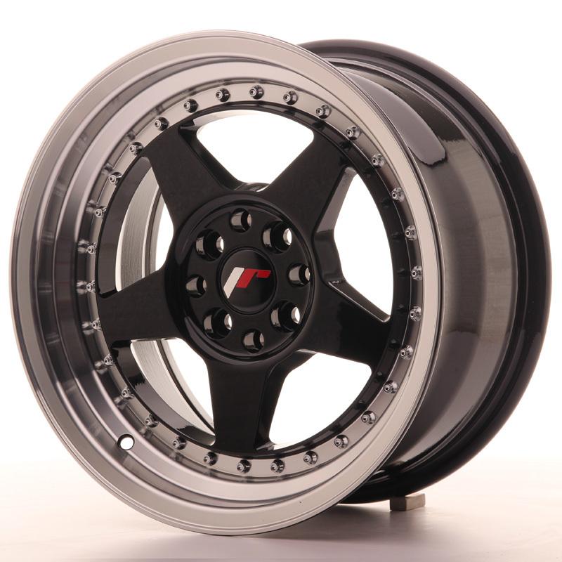 japan racing vanteet jr6 16x8 et30 4x100 114 glossy black. Black Bedroom Furniture Sets. Home Design Ideas