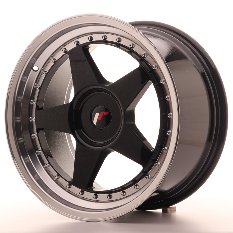 japan racing vanteet jr6 18x9 5 et20 40 blank glossy black. Black Bedroom Furniture Sets. Home Design Ideas