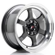 JR Wheels JR12 15x7,5 ET26 4x100/108 Gun Metal w/Machined Lip