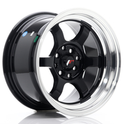 JR Wheels JR12 15x8,5 ET13 4x100/114 Gloss Black w/Machined Lip