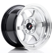 JR Wheels JR12 15x8,5 ET13 4x100/114 Hyper Silver w/Machined Lip