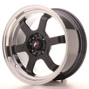 JR Wheels JR12 16x8 ET15 4x100/114 Gloss Black w/Machined Lip