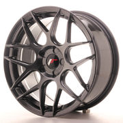 Japan Racing JR18 17x8 ET35 5H Blank Hiper Black
