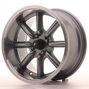 Japan Racing JR19 15x8 ET0 4x100 Gun Metal