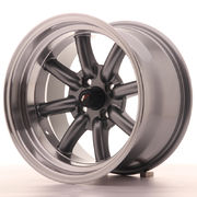 Japan Racing JR19 15x9 ET-13 4x100 Gun Metal