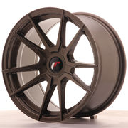 Japan Racing JR21 17x9 ET25-35 Blank Matt Bronze