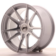 Japan Racing JR21 17x9 ET25-35 Blank Silver Mach