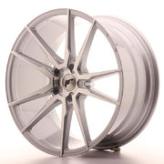 Japan Racing JR21 21x10 ET15-45 5H Blank Silver M