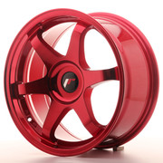 Japan Racing JR3 17x7 ET20-40 Blank Platinum Red