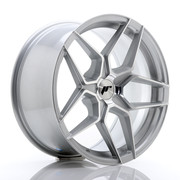 JR Wheels JR34 18x9 ET20-42 5H BLANK Silver Machined Face