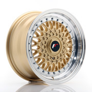 JR Wheels JR9 15x7 ET20 BLANK Gold w/Machined Lip