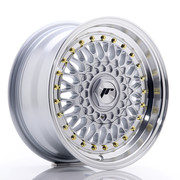 JR Wheels JR9 15x7 ET20 BLANK Silver w/Machined Lip