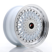 JR Wheels JR9 15x7 ET20 4x100/108 White w/Machined Lip