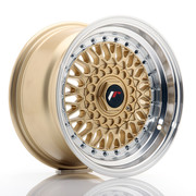 JR Wheels JR9 15x8 ET20 4x100/108 Gold w/Machined Lip
