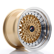 JR Wheels JR9 15x9 ET10 4x100/108 Gold w/Machined Lip