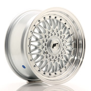 JR Wheels JR9 16x7,5 ET25 4x100/108 Silver w/Machined Lip+Silver Rivets