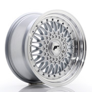 JR Wheels JR9 16x8 ET25 4x100/108 Silver w/Machined Lip+Silver Rivets