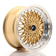 JR Wheels JR9 17x8,5 ET20 4x100/5x100 Gold w/Machined Lip