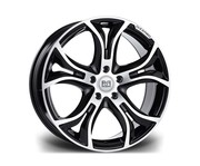 Riviera Dizzard 20x9 5x120 72.6 45 Black Polished