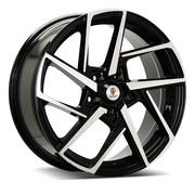 Stuttgart St21 17x7.5 5x112 Et 45 73.1 Black Polished