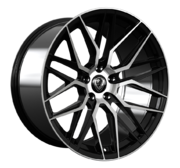 Cades Hera Jet Black Polished 20x9.0 5x120 ET32