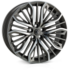 Hawke Vega Flow Formed Gunmetal Polish 22x9.5 5x108 ET42