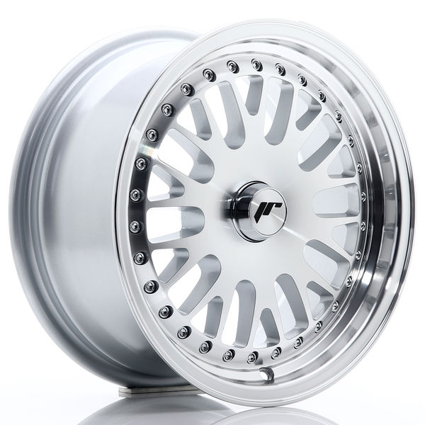 JR Wheels JR10 15x7 ET30 Blank Mach Silver