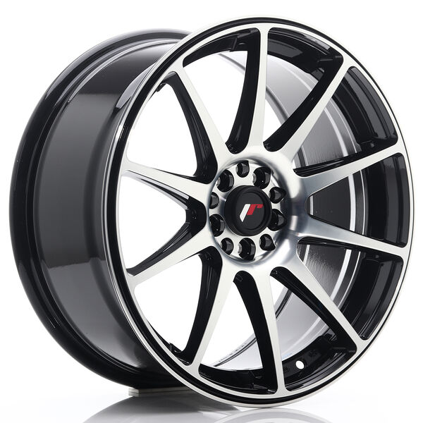 JR Wheels JR11 18x8,5 ET30 5x114/120 Gloss Black Machined Face
