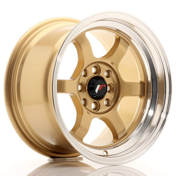 JR Wheels JR12 15x8,5 ET13 4x100/114 Gold w/Machined Lip