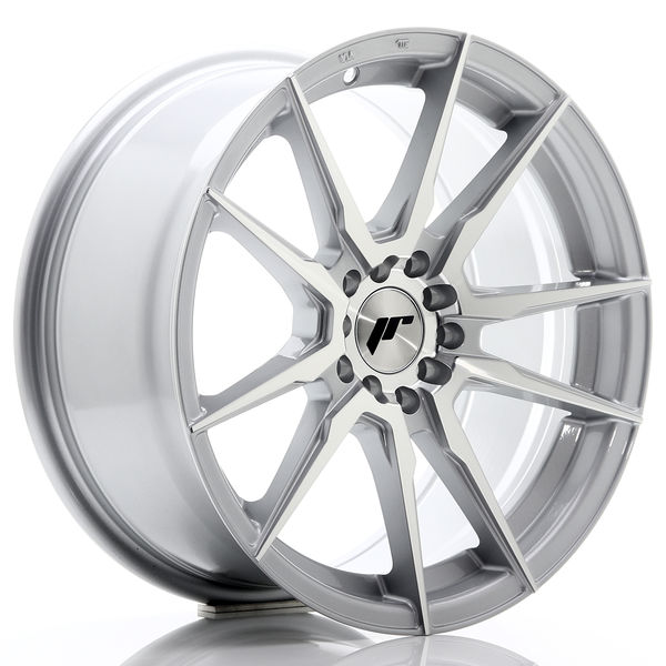 JR Wheels JR21 17x8 ET25 4x100/108 Silver Machined Face