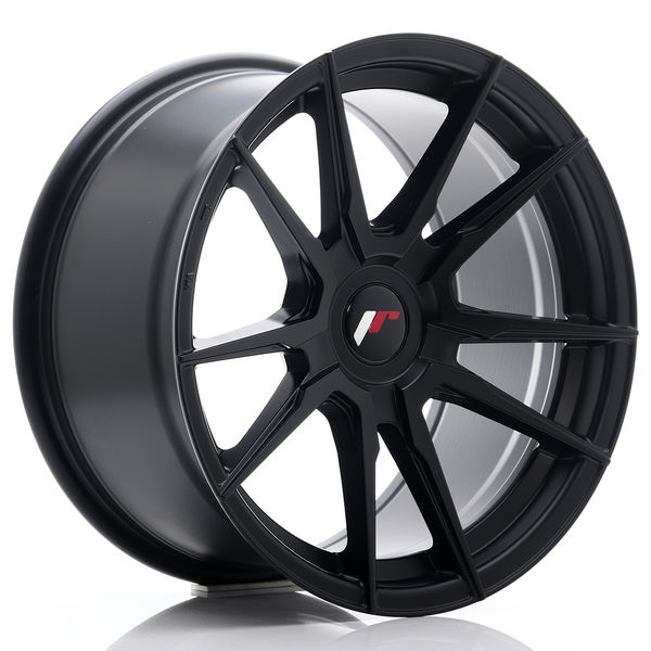 JR Wheels JR21 17x9 ET25-35 BLANK Matt Black