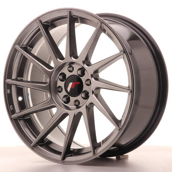 JR Wheels JR22 17x8 ET25 4x100/108 Hyper Black