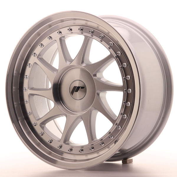 JR Wheels JR26 17x8 ET20-35 BLANK Silver Machined Face