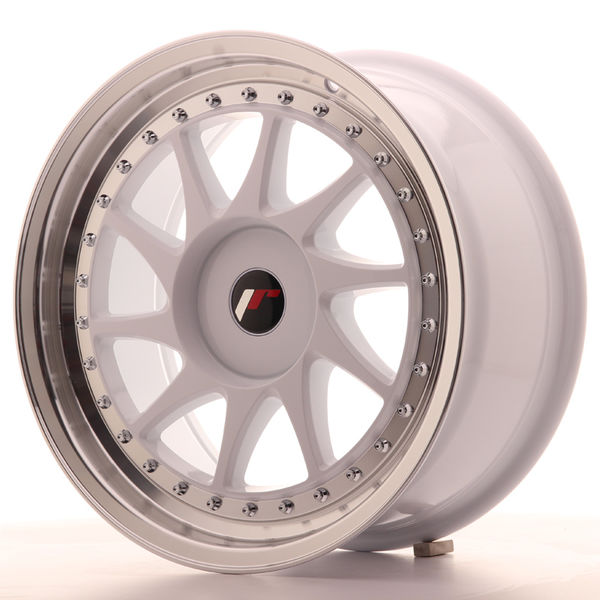 JR Wheels JR26 17x8 ET20-35 BLANK White w/Machined Lip