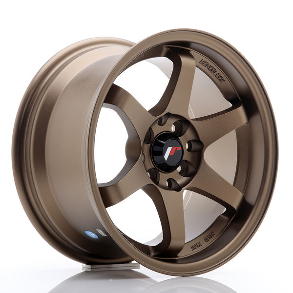 JR Wheels JR3 15x8 ET25 4x100/114 Anodized Bronze