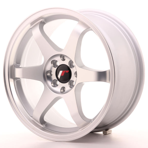 JR Wheels JR3 17x8 ET35 5x100/114 Matt Silver Machined Face