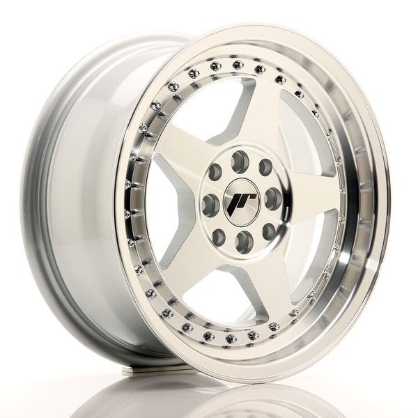 JR Wheels JR6 15x7 ET35 4x100/114 Silver Machined Face
