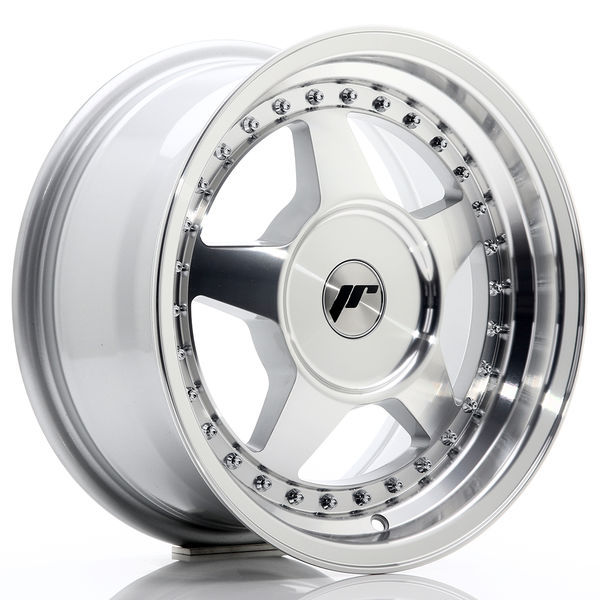 JR Wheels JR6 15x7 ET20-35 BLANK Silver Machined Face