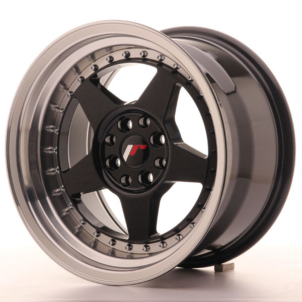 JR Wheels JR6 16x9 ET20 4x100/108 Gloss Black w/Machined
