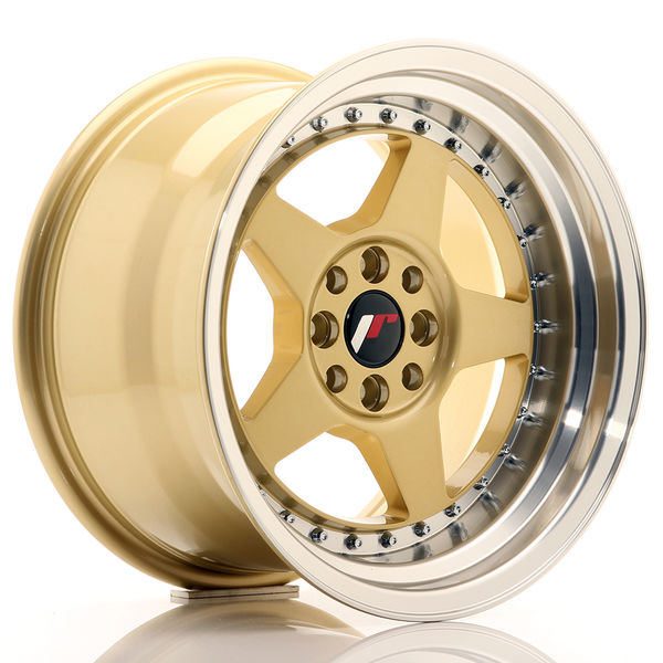 JR Wheels JR6 16x9 ET20 4x100/108 Gold w/Machined Lip