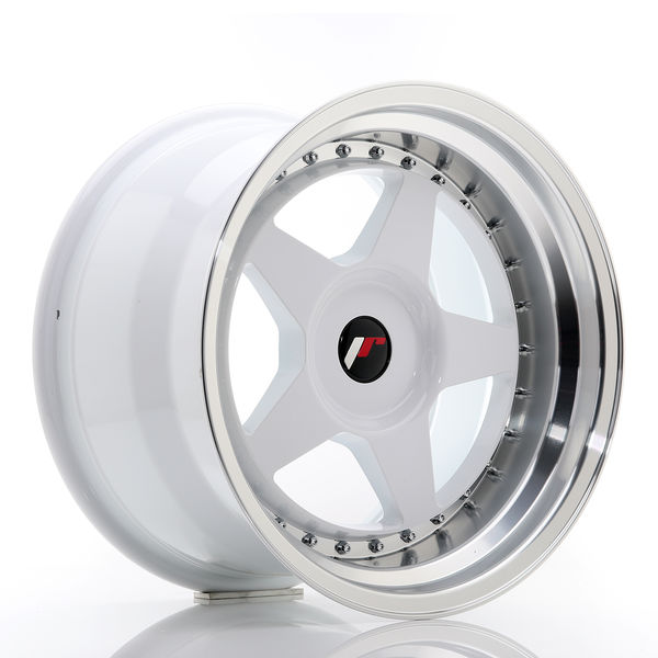JR Wheels JR6 17x10 ET20 BLANK White w/Machined Lip