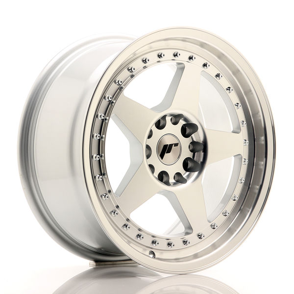 JR Wheels JR6 17x8 ET35 5x100/114 Silver Machined Face