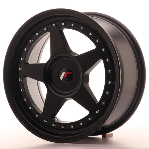 JR Wheels JR6 17x8 ET20-35 BLANK Matt Black