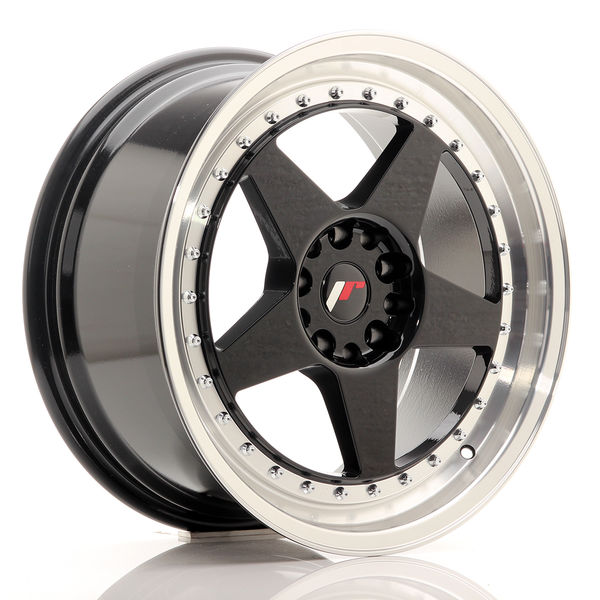JR Wheels JR6 18x8,5 ET22 5x114,3/120 Gloss Black w/Machined