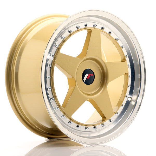 JR Wheels JR6 18x8,5 ET20-40 BLANK Gold w/Machined Lip