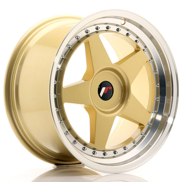 JR Wheels JR6 18x9,5 ET20-40 BLANK Gold w/Machined Lip