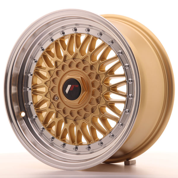 JR Wheels JR9 16x7,5 ET25 4x100/108 Gold w/Machined Lip