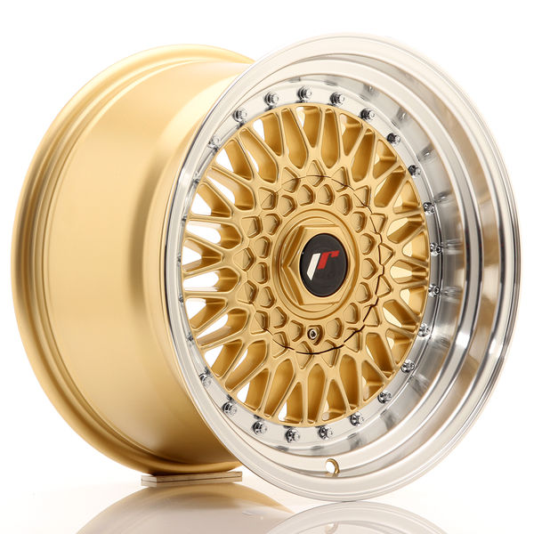 JR Wheels JR9 16x9 ET20 4x100/108 Gold w/Machined Lip