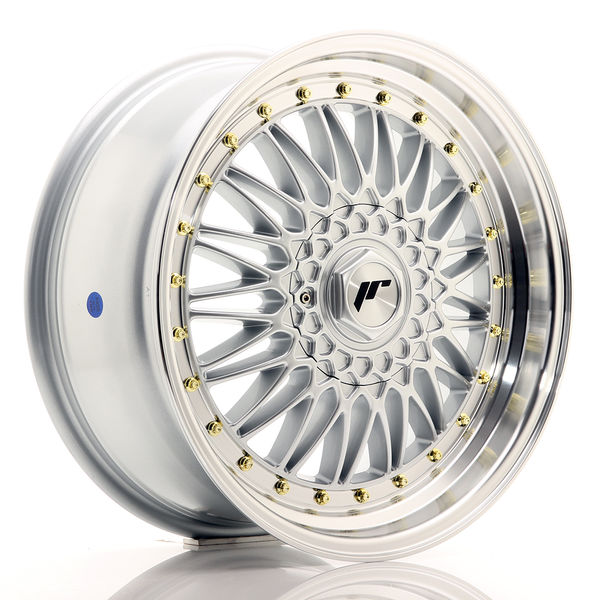 JR Wheels JR9 18x9 ET35 5x100/120 Silver w/Machined Lip